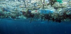 Debris-polluted ocean