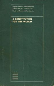 A Constitution for the World 1965
