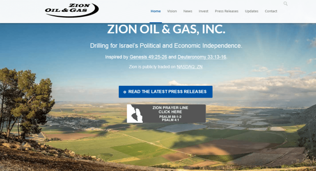 Zion O&G homepage